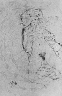 Erotische Bleistiftzeichnung